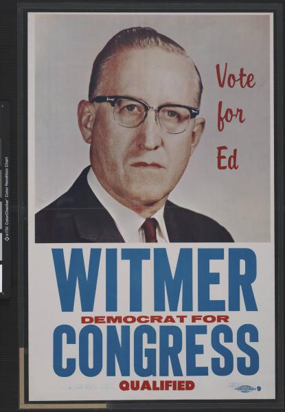 Ed Witmer campaign poster
