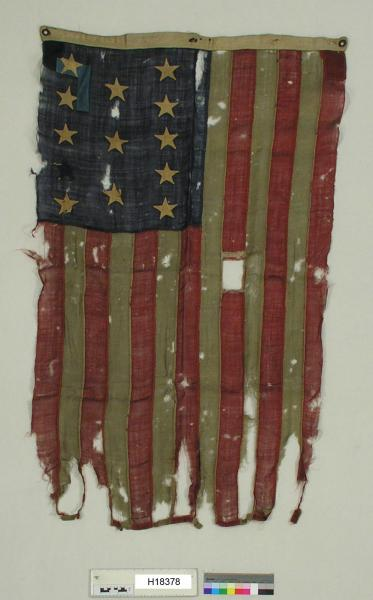 Black Horse Cavalry Battle flag with 13 stars