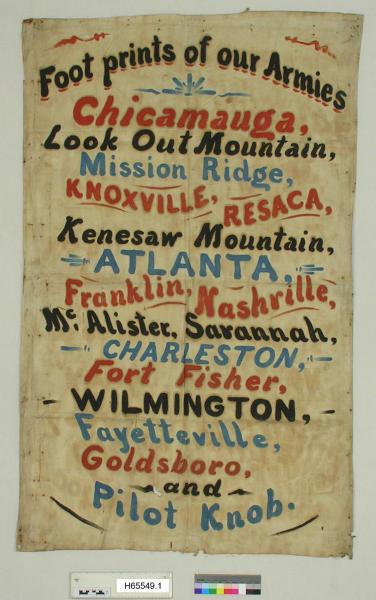 Civil War commemorative banner