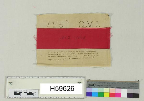 Battle flag 125th OVI 1862-1865