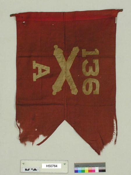 Battery A, 136th Field Artillery Guidon