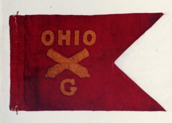 Guidon of the 1st Ohio Light Artillery Regiment, Battery G, U.S. Volunteers