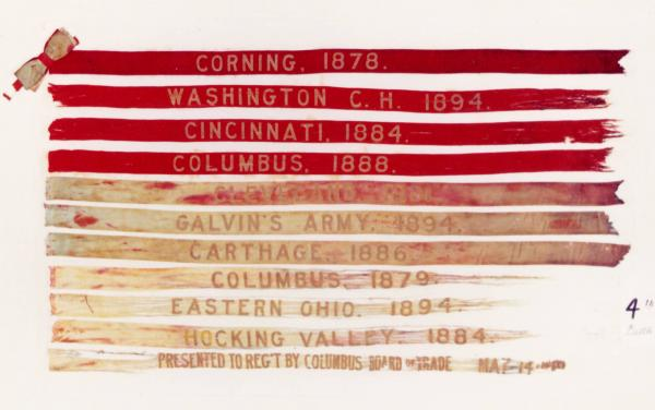 Campaign Banners of the 4th Ohio Infantry Regiment,  U.S. Volunteers
