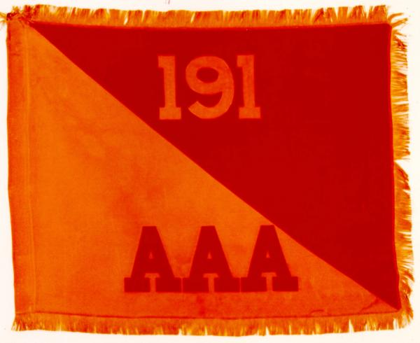 Battle Colors of the 191st Anti-Aircraft Artillery Battalion of 37th Infantry