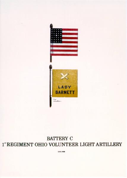 Flank Marker and Guidon of  the 1st O.V.L.A., Battery C, painting