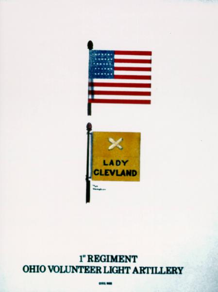 Flank Marker and Guidon of the 1st O.V.L.A., painting