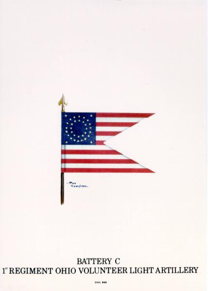 Guidon of the 1st O.V.L.A., Battery C, painting