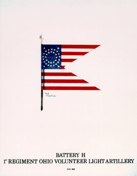 Guidon of the 1st O.V.L.A., Battery H, painting