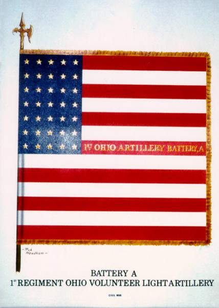 National Colors of the 1st O.V.L.A., Battery A, painting