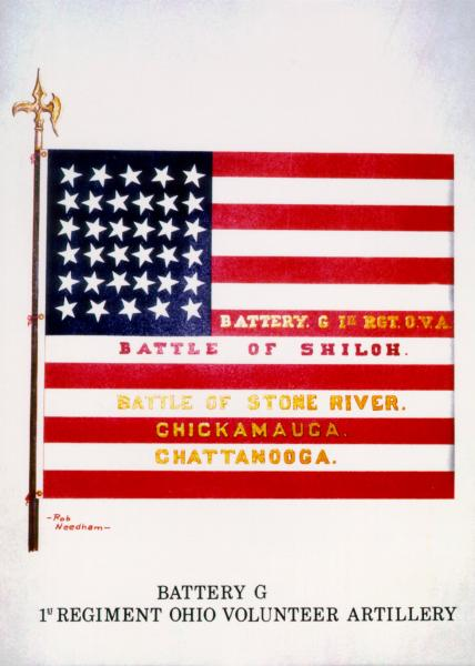 National Colors of the 1st O.V.L.A., Battery G, painting