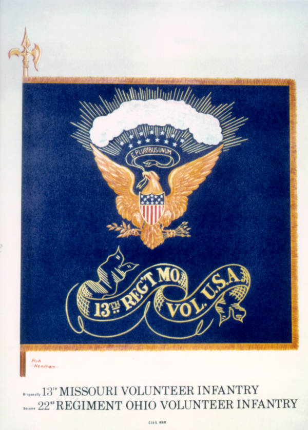 Regimental Colors of the 22nd O.V.I. (13th Missouri)