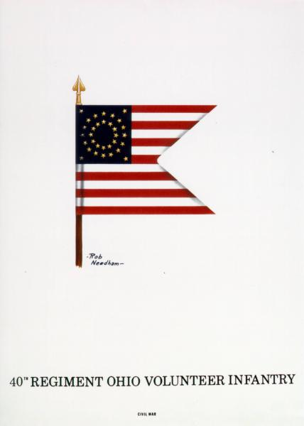 Guidon of the 40th Ohio Volunteer Infantry, painting of 2