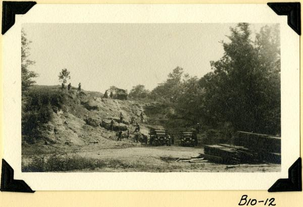 Fort Hill, quarrying marl photograph