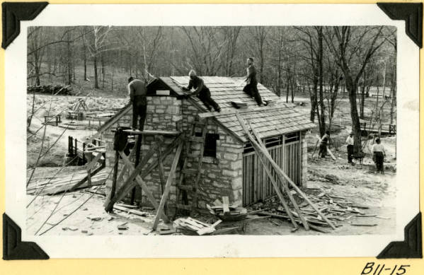 Fort Hill, latrine rear and east photograph