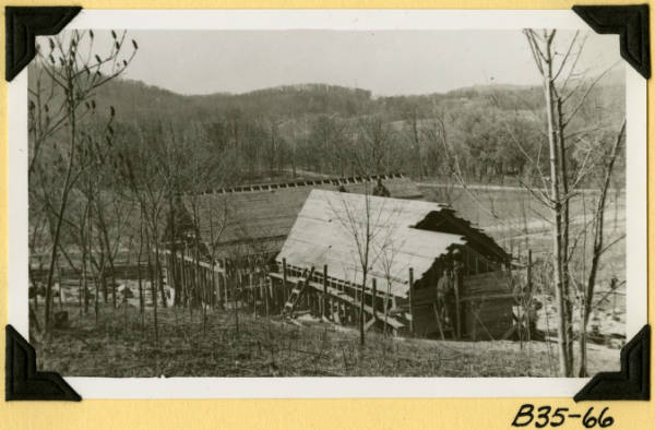Fort Hill, roof sheathing in place photograph