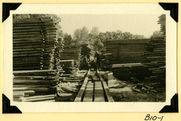 Fort Hill, lumber stacks photograph