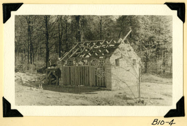 Fort Hill, latrines stone and timber construction photograph