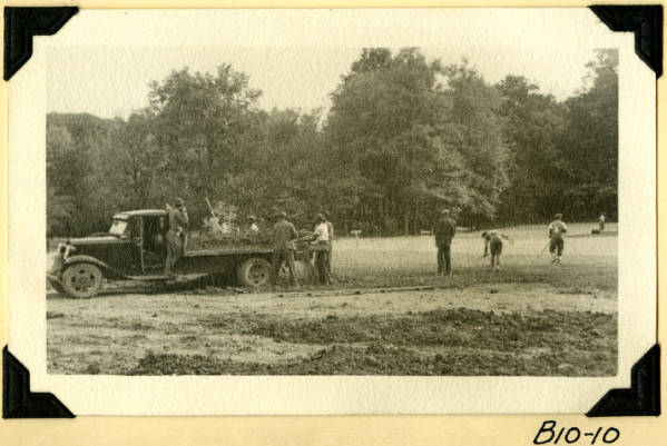 Fort Hill, spreading topsoil photograph