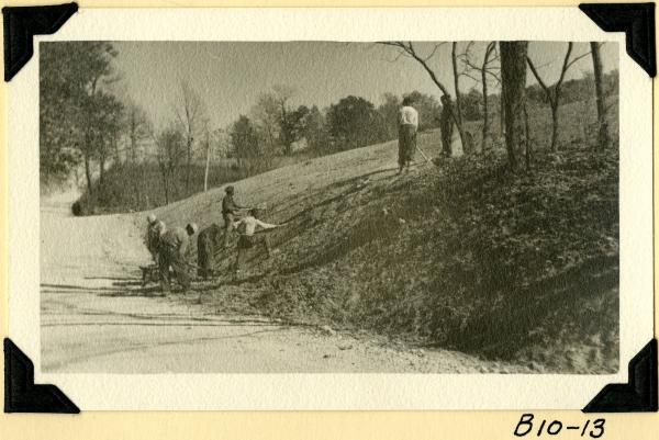 Fort Hill, cutting and grading bank photograph