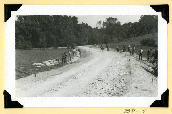 Fort Hill, finishing grade in entrance road photograph