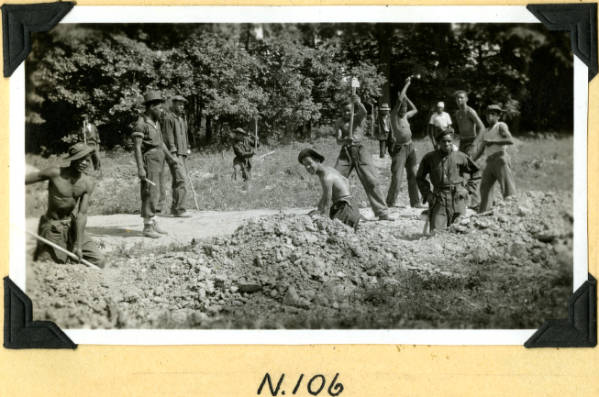 Fort Hill, excavation for drain tile photograph