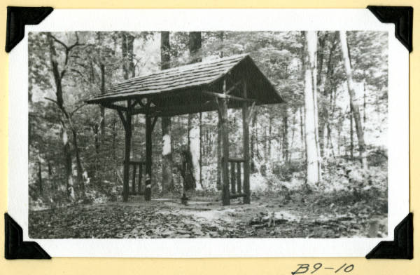 Fort Hill, completed well shelter photograph