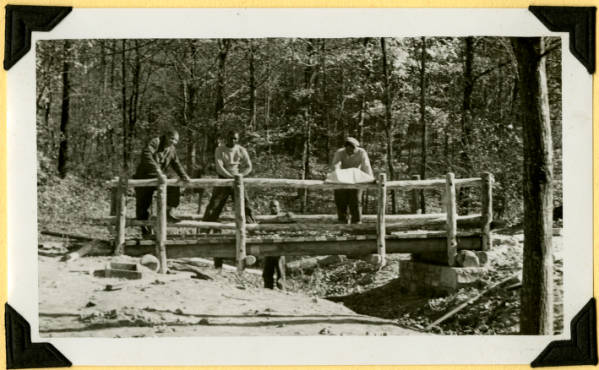 Fort Hill, footbridge almost complete photograph