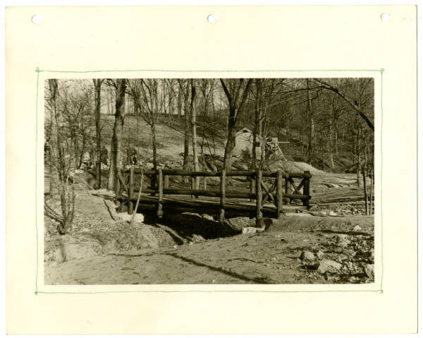 Fort Hill, footbridge completed photograph