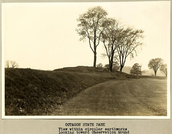Octagon, view looking toward Observation Mound photograph