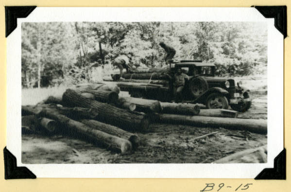Fort Hill, delivering logs to sawmill photograph