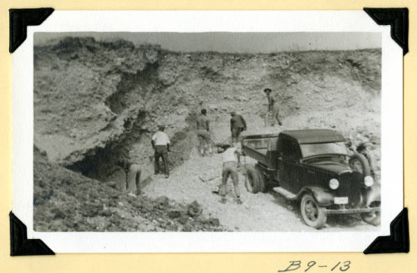 Fort Hill, digging gravel photograph