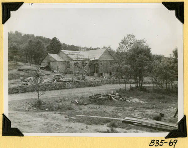 Fort Hill, rear view of housing structure photograph
