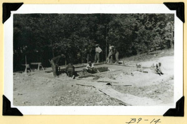 Fort Hill, latrines toilet foundations photograph