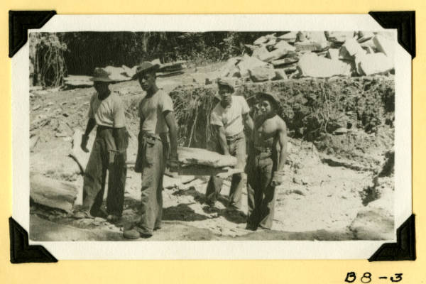 Fort Hill, removing stone from quarry photograph