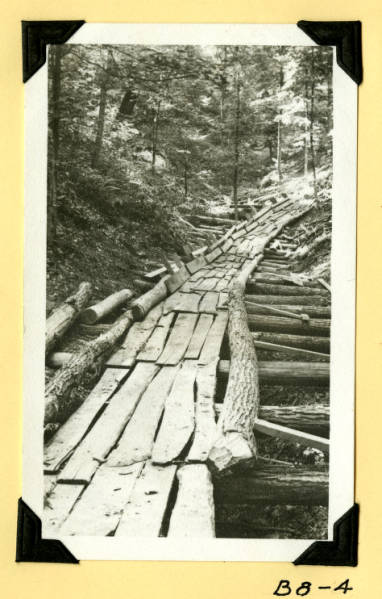 Fort Hill, log chute photograph