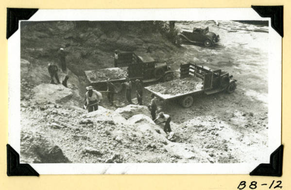 Fort Hill, excavating for marl photograph