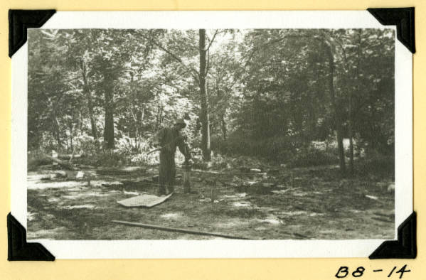 Fort Hill, workman by the well photograph