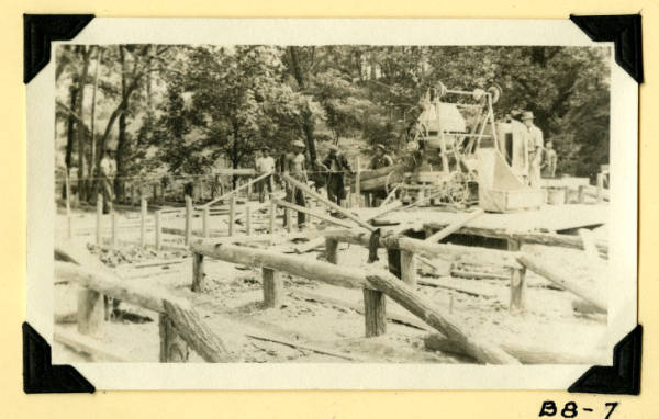 Fort Hill, shelter building foundations photograph