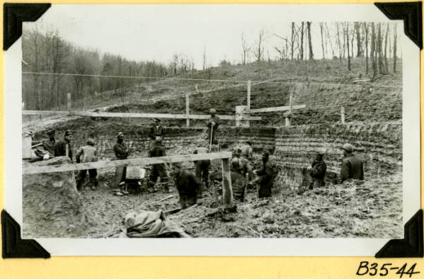Fort Hill, excavation for administration building photograph