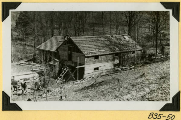 Fort Hill, garage and workshop roofing photograph