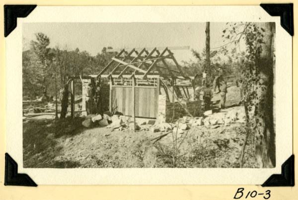 Fort Hill, latrines timber construction photograph