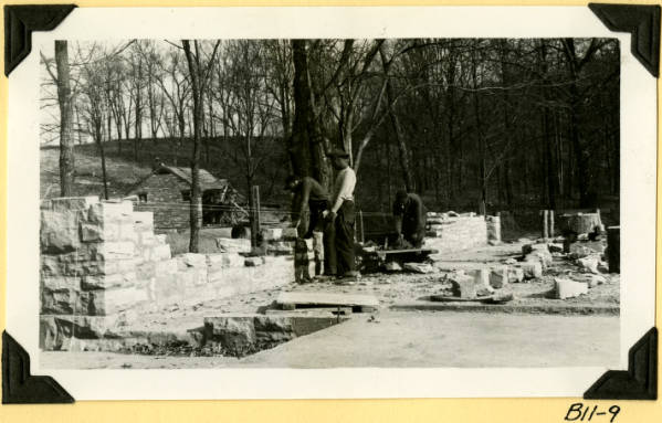 Fort Hill, shelter house construction photograph