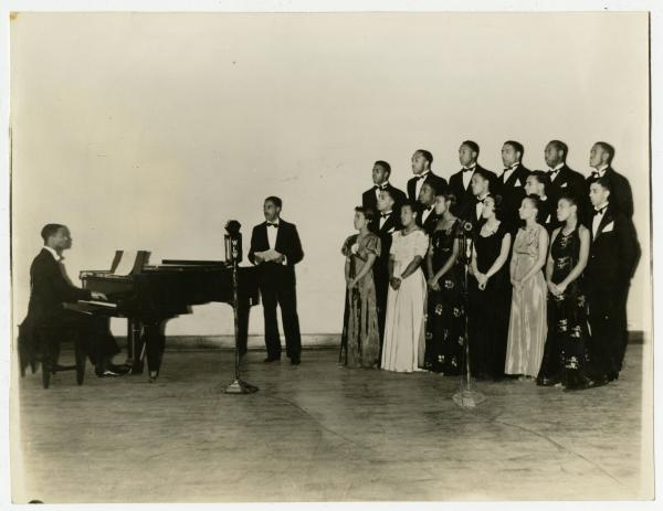 Wilberforce University Singers 1939 photograph
