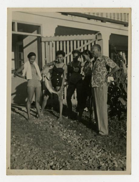 Yvonne Walker-Taylor, Bishop Dougal Ormonde Beaconfield Walker and other unidentified women in the West Indies photograph