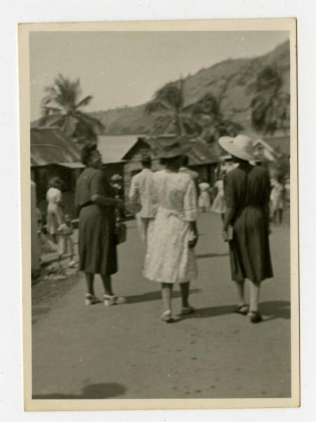 Three unidentified women in the West Indies photograph