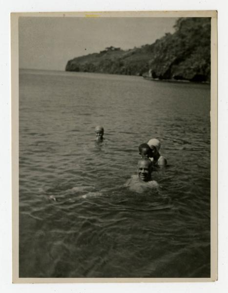Bishop Dougal Ormonde Beaconfield Walker swimming in the Kingstown Bay