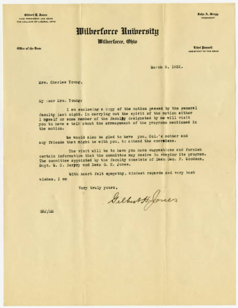 A Letter to Ada, March 8, 1922