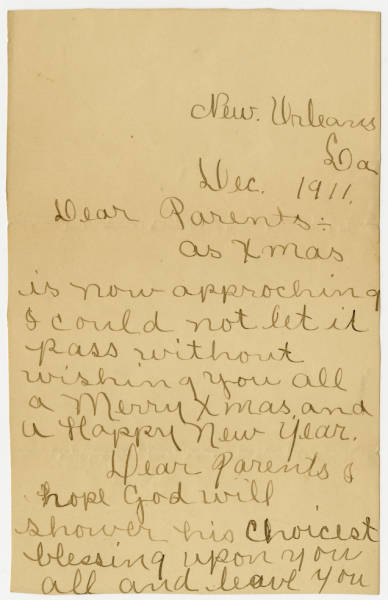 Letter from the Bureau of Pensions, Washington, D. C.