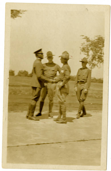 Photograph of Col. Charles Young with Unknown Individuals