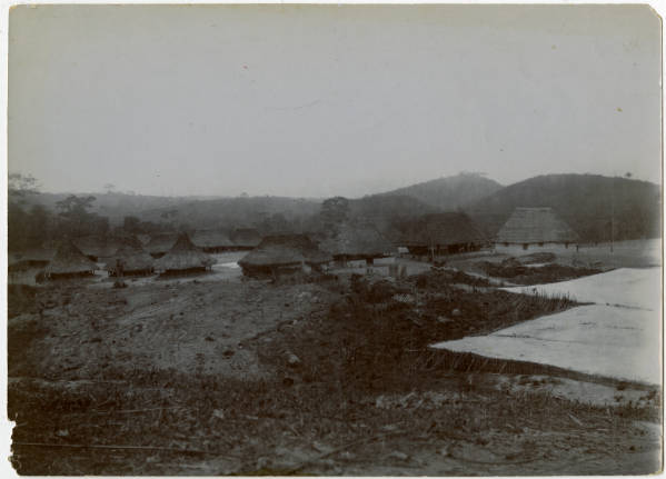 Photograph of a village in Liberia, Africa